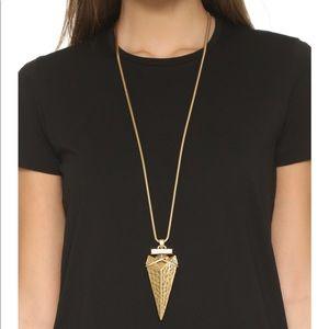 Tory Burch Arrowhead Metal Pendant Necklace